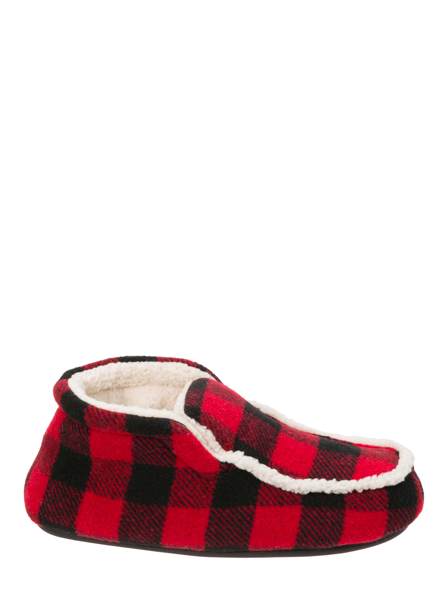 DF by Dearfoams Boys' Plaid Bootie Slippers
