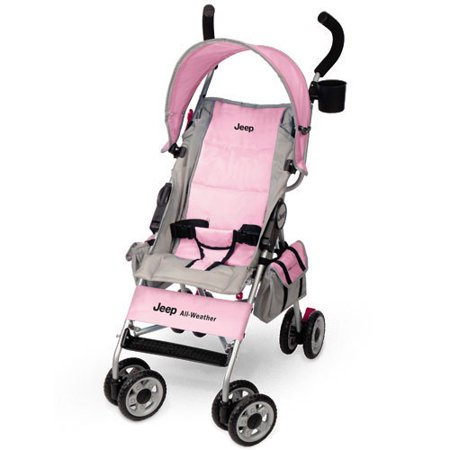 jeep all weather reclining umbrella stroller pink. Black Bedroom Furniture Sets. Home Design Ideas