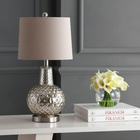 Safavieh Atlas Modern Rustic 24 in. H Table Lamp, Silver/Ivory Aspen Rustic Table Lamp