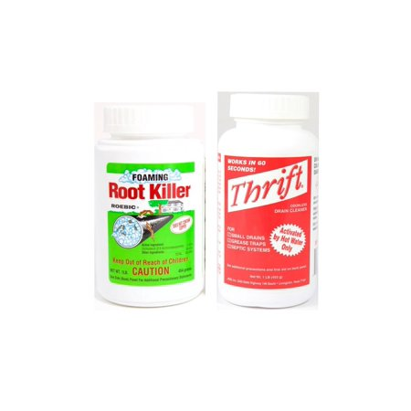 Thrift T-100 Drain Cleaner & Roebic Foaming Root (Best Drain Cleaner For Roots)