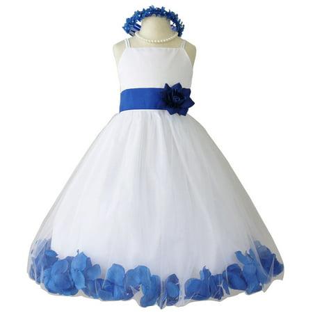 Wallao flower girl dress rose petal wallao easter wedding girl flower girl dress rose petal wallao easter wedding girl white baby 14 blue mightylinksfo