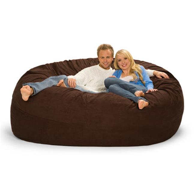 RelaxSacks 7DM-MS002 7 ft. Round Relax Sack - Microsuede Chocolate