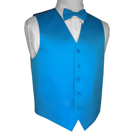 Italian Design, Men's Tuxedo Vest, Bow-tie - Blue ()