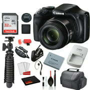 Canon PowerShot SX540 HS Digital Camera (1067C001) with Accessory Bundle package deal 'SanDisk 32gb SD card + Deluxe Cleaning Kit + 12' Tripod + MORE