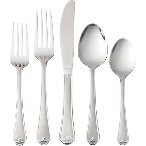 Mainstays 20-Piece Colonial Flatware Set