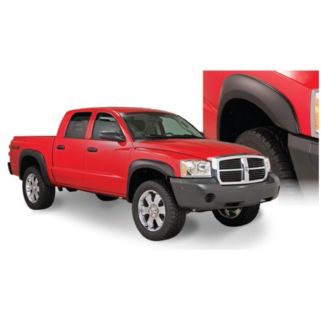 Bushwacker 05-10 Dodge Dakota Crew Cab Fleetside Extend-A-Fender Style Flares 4pc 64.9in Bed - Black (Bushwacker Flares)