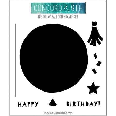 "Concord & 9Th Clear Stamps 4""X4""-Birthday Balloon"