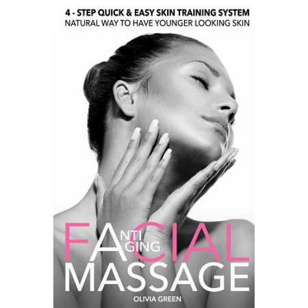 Anti - Aging Facial Massage. 4 - Step Quick & Easy Skin Training Exercises : Natural Way to Have Younger Looking