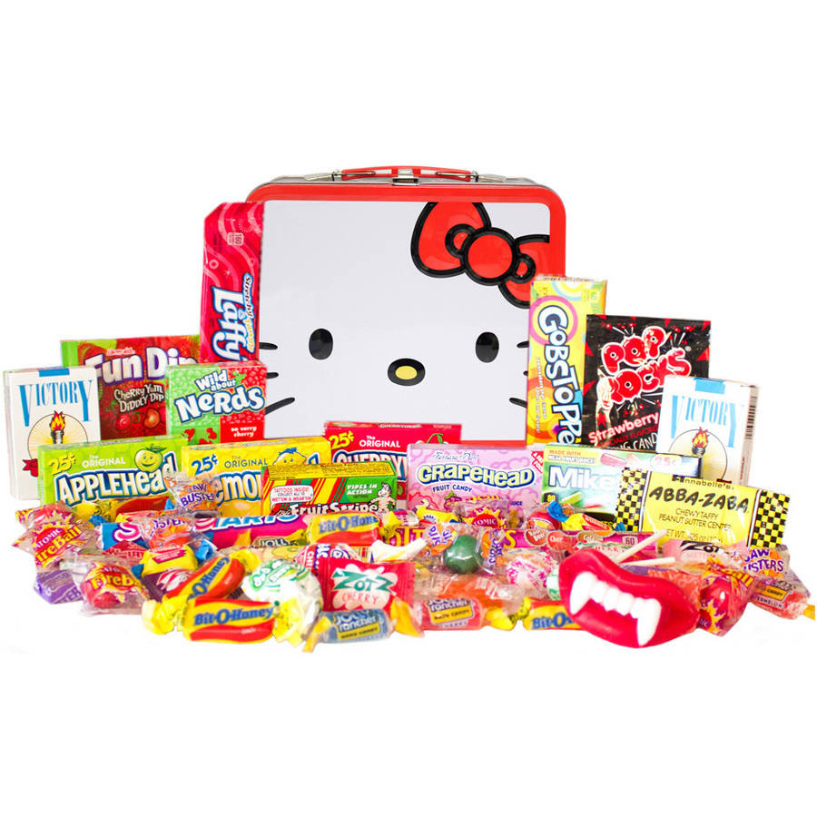 Candy Crate Hello Kitty 1980 Retro Candy Filled Tin