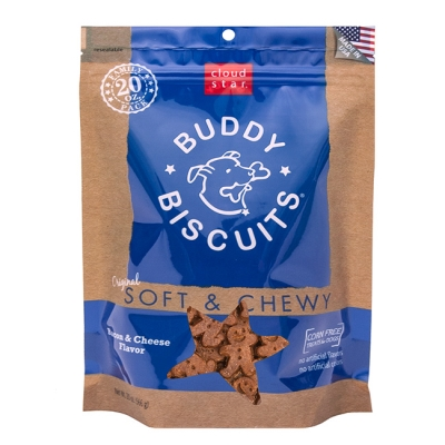 Cloud Star Buddy Biscuits 17202 Original Soft and Chewy Bacon and Cheese Dog Treat, 20 oz