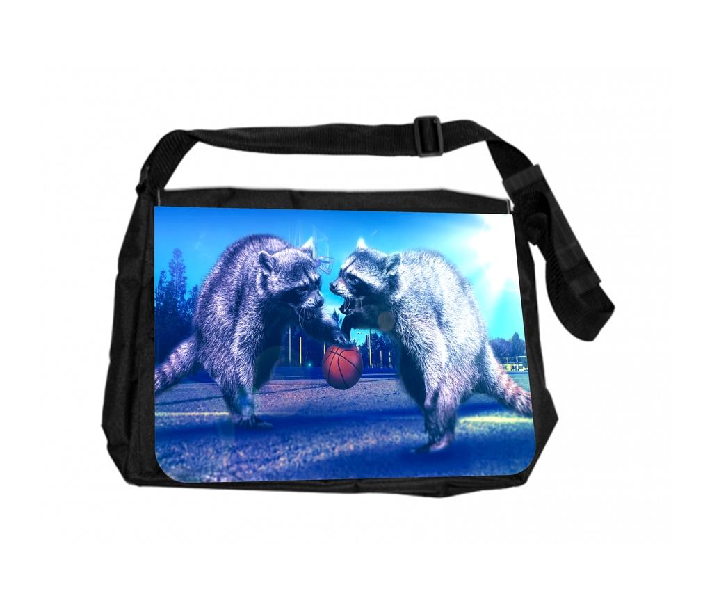 Raccoons Playing Basketball Gym Bag