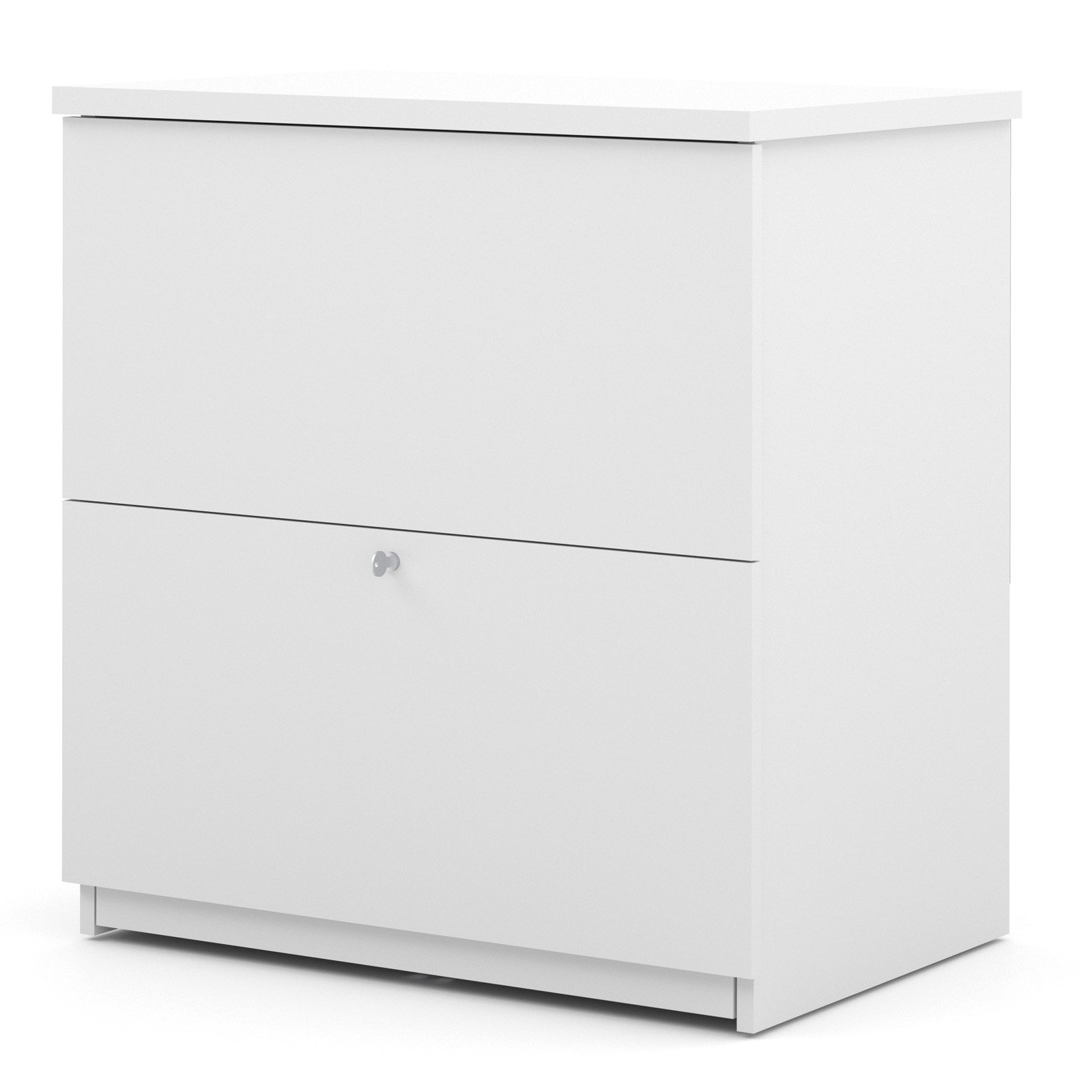 Bestar 2 Drawer Lateral Wood Lockable Filing Cabinet, White by Bestar