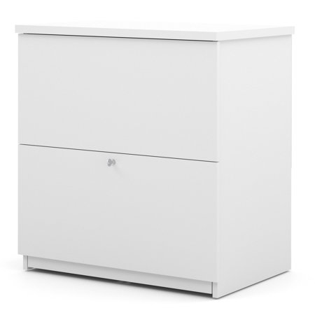 Bestar 2 Drawer Lateral Wood Lockable Filing Cabinet, White Executive 2 Drawer Lateral File