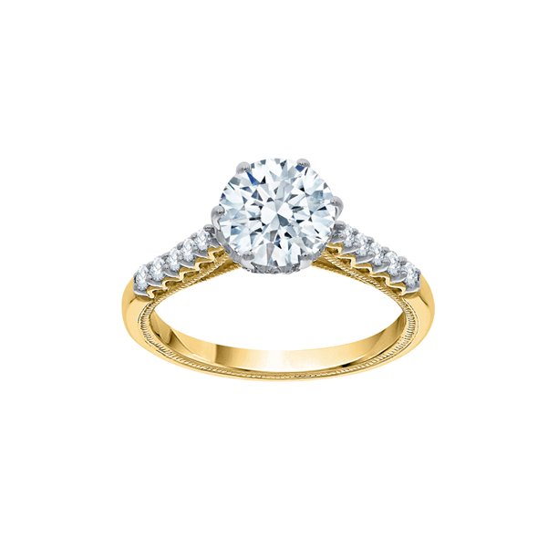 KATARINA Diamond Engagement Ring in 10K Yellow Gold (1 1/2 cttw, I-Color, SI3-I1 Clarity) (Size-9.5)