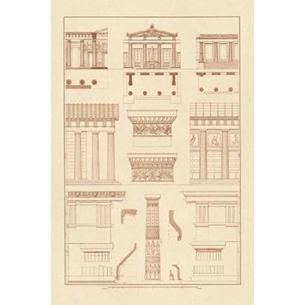 Doric Order Temple Of Zeus And Cased Column Poster Print By J Buhlmann 12 X 18 Walmart Com Walmart Com