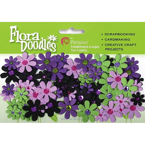 Flora Doodles Jeweled Florettes, 80pk