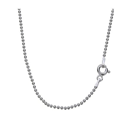 """Sterling Silver 1.5mm Bead Ball Nickel Free Chain Necklace Italy 14"""""""