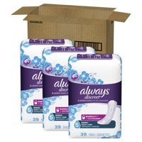 Always Discreet Heavy Absorbency Incontinence Pads, Long Length, 117 ct