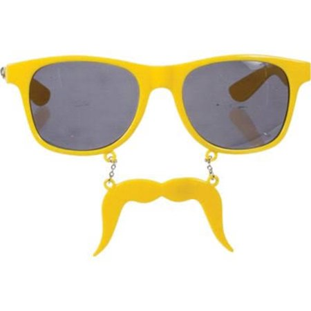 Halloween Costume Accessory Yellow Sunglasses with Mustache - Halloween Costume Mustache