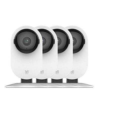 YI Home Security Camera 1080p HD with Wi-Fi Baby and Pet Monitor, Night Vision, Two Way Audio, Cloud Storage Optional (4-Pack)