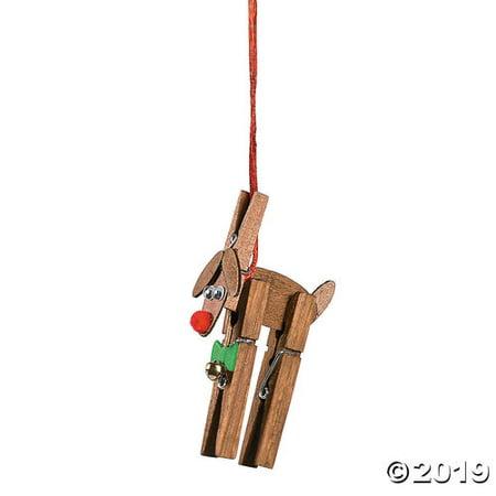 Reindeer Clothespin Christmas Ornament Craft Kit ()