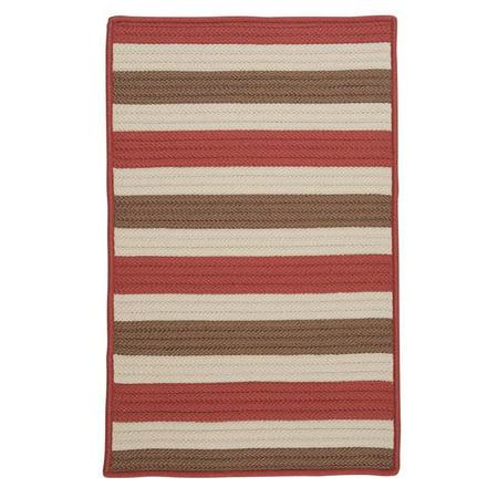 Colonial Mills TR99R060X060S 5 ft. Stripe It Square Rug, Terracotta - image 1 de 1