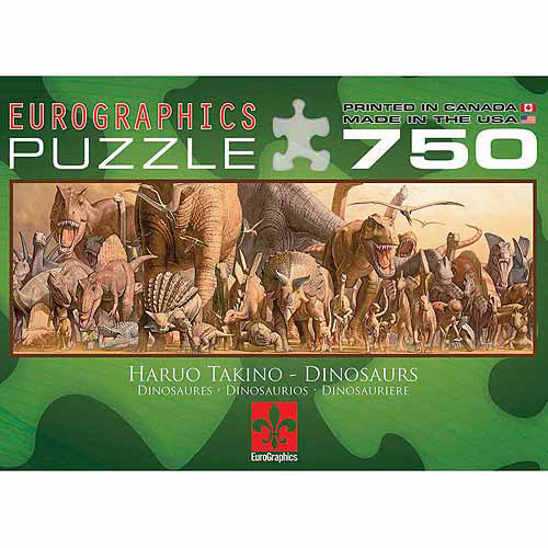 EuroGraphics Dinosaurs Jigsaw Puzzle 750-Piece Puzzle