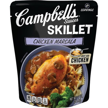 (3 Pack) Campbell's Skillet Sauces Chicken Marsala, 11 (Merlot Wine Sauce)
