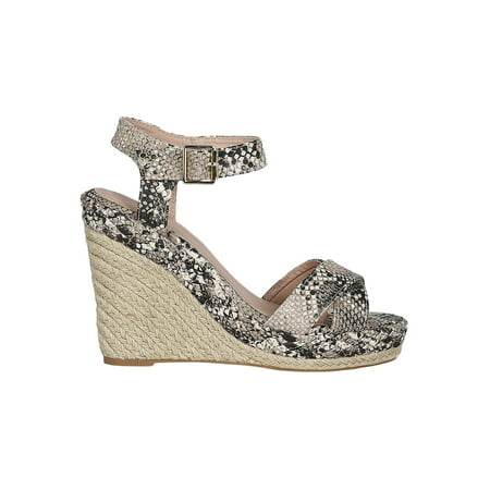 36e68a1c172 Women Crisscross Open Toe Espadrille Platform Wedge Sandal 18557