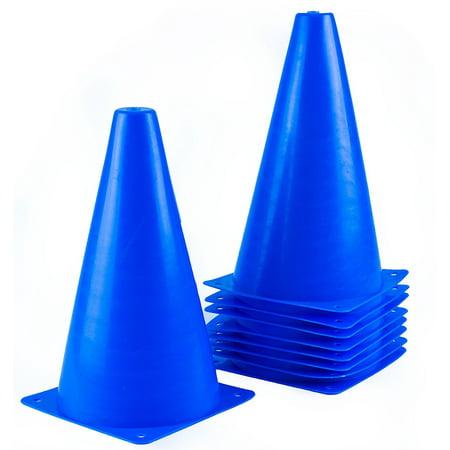 RK Sports CONE-9S Plastic Sport Cones - Blue