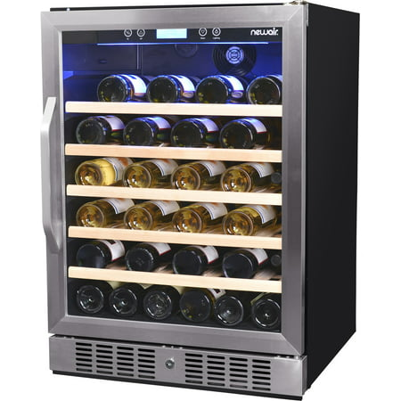 NewAir 52-Bottle Compressor Wine Refrigerator, Stainless Steel