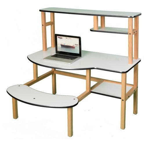 Wild Zoo Pre-School Buddy Computer Desk with Optional Hutch and Printer Stand - White