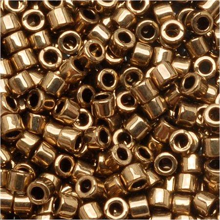 Miyuki Delica Seed Beads 10/0 Metallic Bronze DBM0022 8 Grams