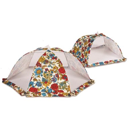 Picnic Plus ACM-728FL Food cover tent umbrellas set of 2 - Floribunda
