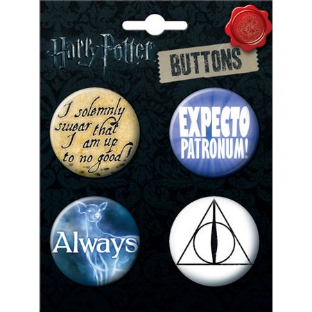 Potter Buttons (Harry Potter Logos and Symbols Button Four Pack 2 )