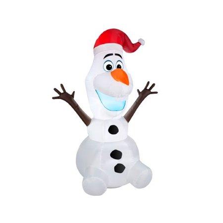 Northlight Seasonal Inflatable Disney Frozen LED Lighted Olaf Christmas Yard  Art Decoration - Northlight Seasonal Inflatable Disney Frozen LED Lighted Olaf