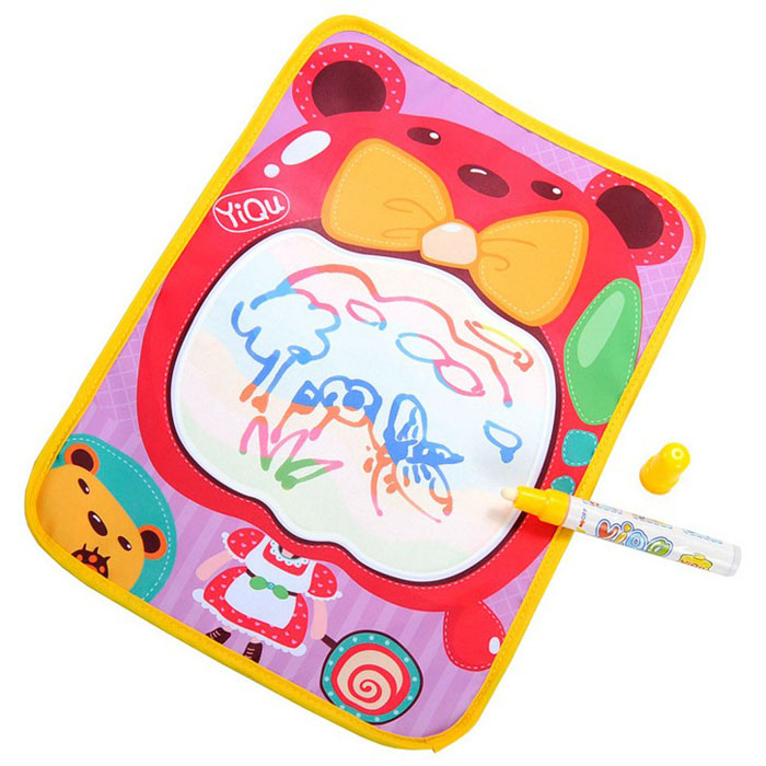 New Amusing Water Drawing Painting Writing Mat Board+Magic Pen Doodle Toy 36*26.5CM