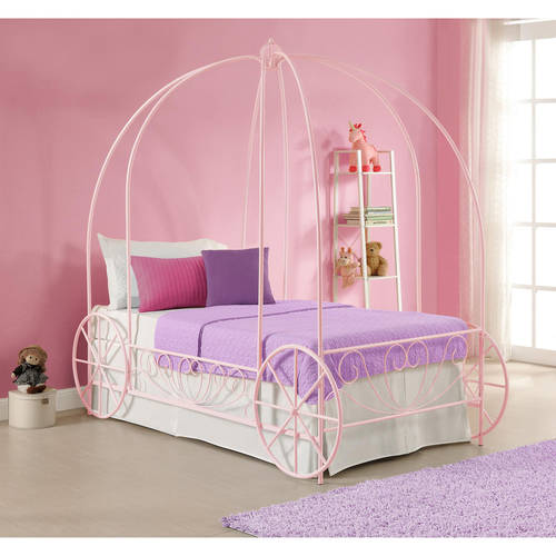 DHP Metal Carriage Bed Frame, Twin Size, Multiple Colors