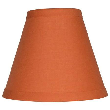 Nursery Chandelier Shades (Urbanest Orange Cotton Chandelier Lamp Shade,)