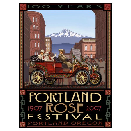 Portland Oregon Rose Festival 100th Anniversary Travel Art Print Poster by Paul A. Lanquist (9