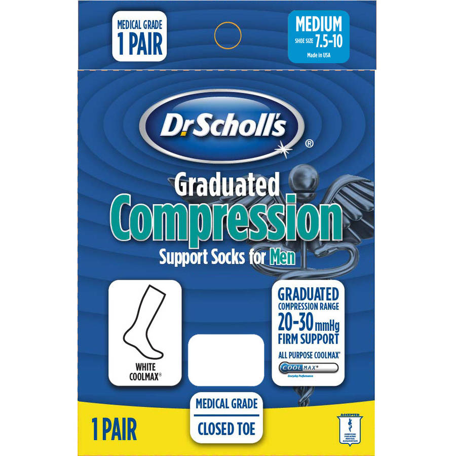 Dr. Scholl's Men's Coolmax Firm Compression Socks 1 Pack