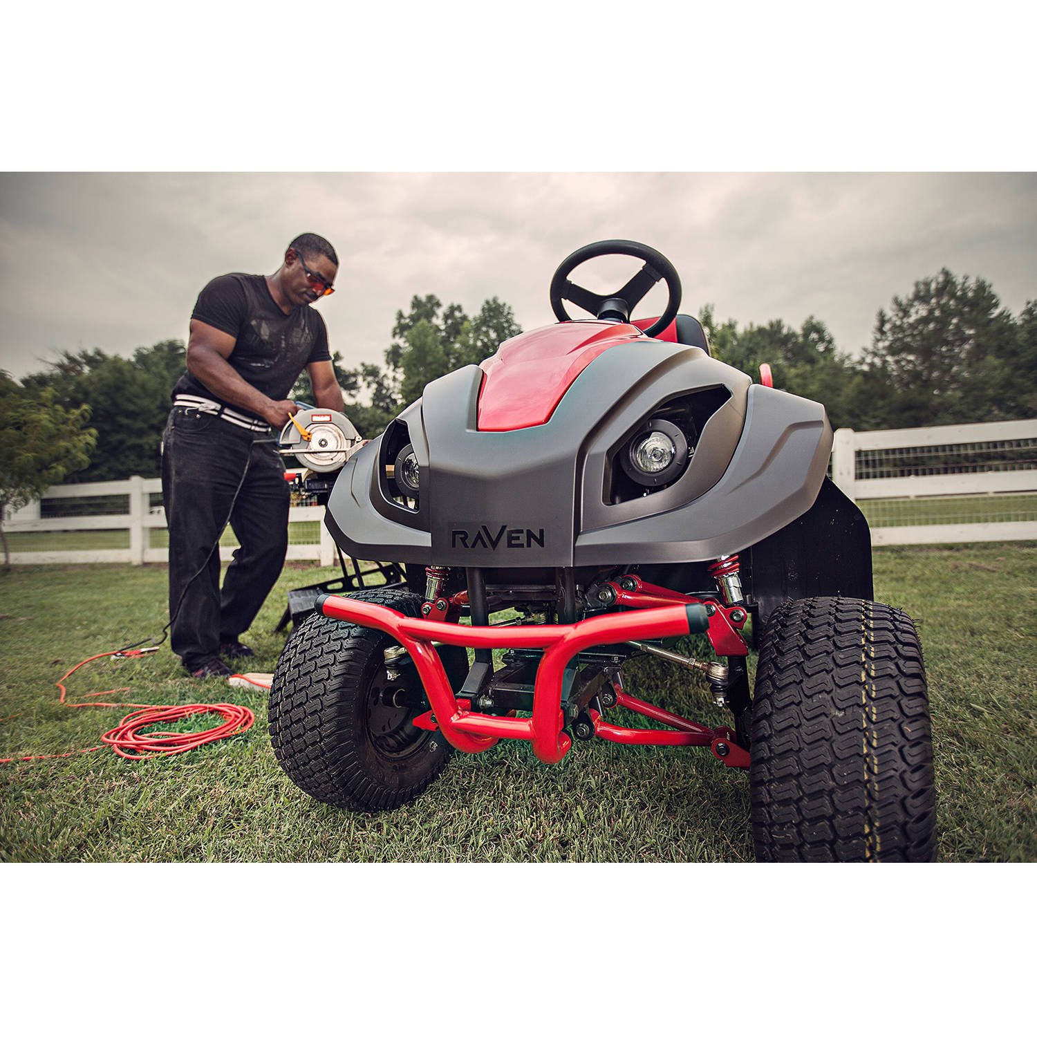 Raven 7100 Hybrid Riding Lawnmower Generator And Utility Vehicle