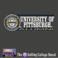 Pittsburgh Panthers Decal - Seal W/ University Of Pittsburgh Over - Panthers Decal