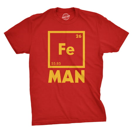 Mens Iron Man Science T Shirt Cool Novelty Funny Superhero Tee For Guys (Awesome Iron Man Suits)