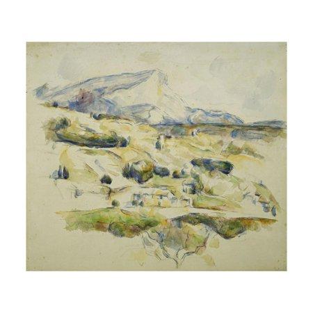 Mount Sainte Victoire looking towards Lauves Print Wall Art By Paul Cézanne
