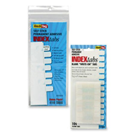 - Redi-Tag Corporation RTG31010 Write-On Plain Tabs- 1in.x.44in.- 416 Tabs- White