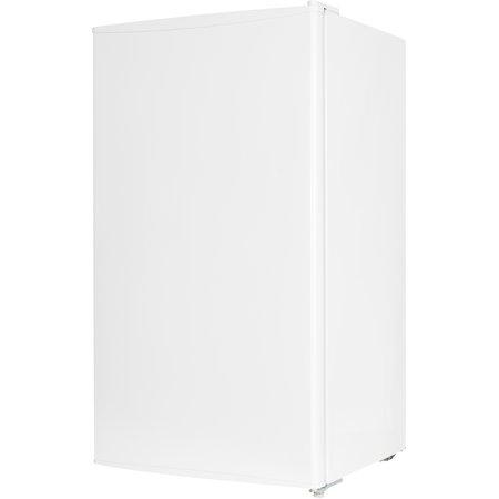 Midea 3.3 cu ft Compact Refrigerator with Reversible Door & Recessed Handle, White