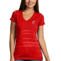 Washington Wizards Antigua Women's Juke Burnout V-Neck T-Shirt - Red