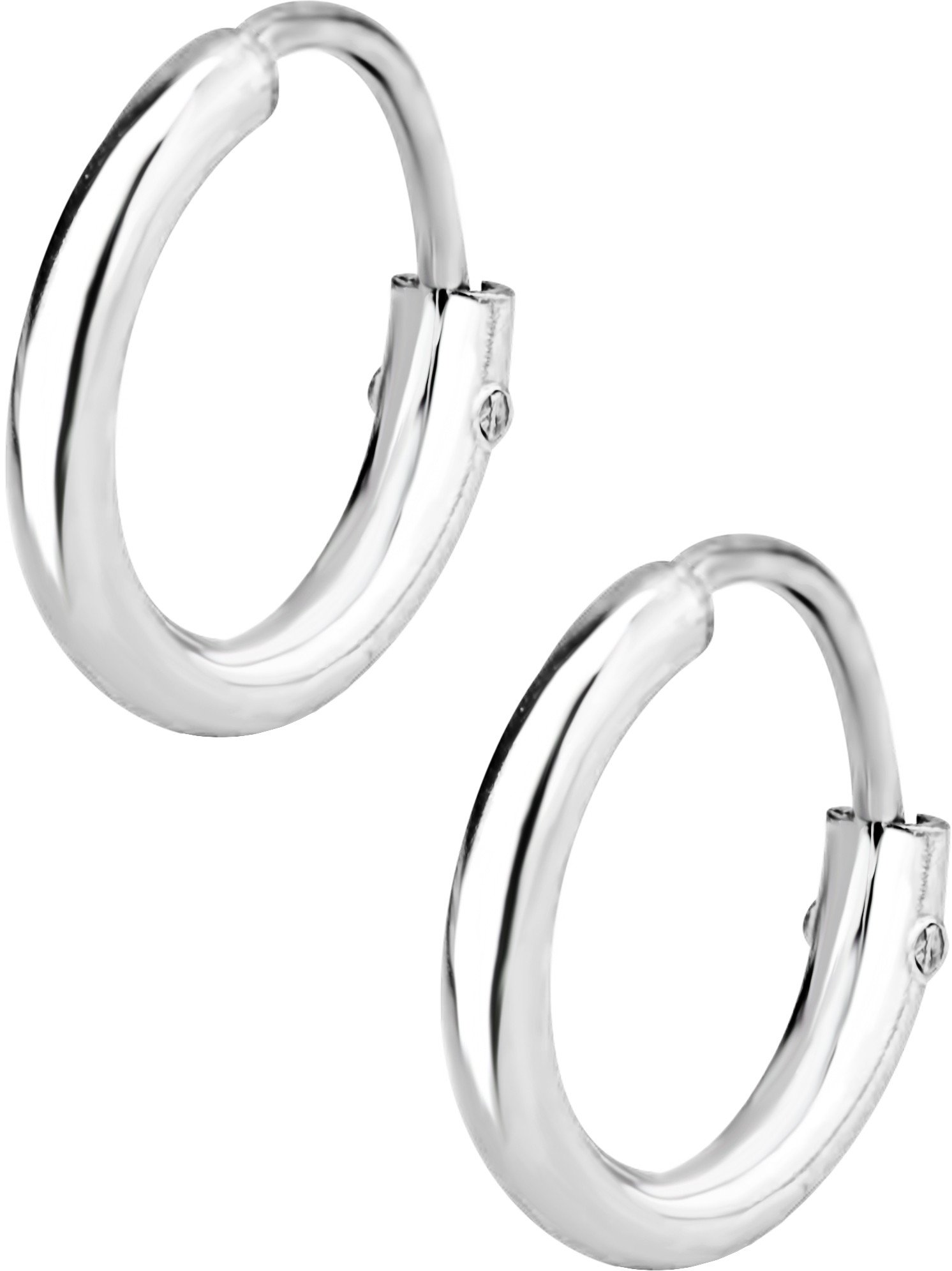 8Mm 3 Row Glitter Lightz Earrings Hoop Earrings
