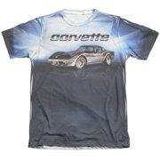 Chevy Blue Vette Check Flag (Front Back Print) Mens Sublimation Shirt